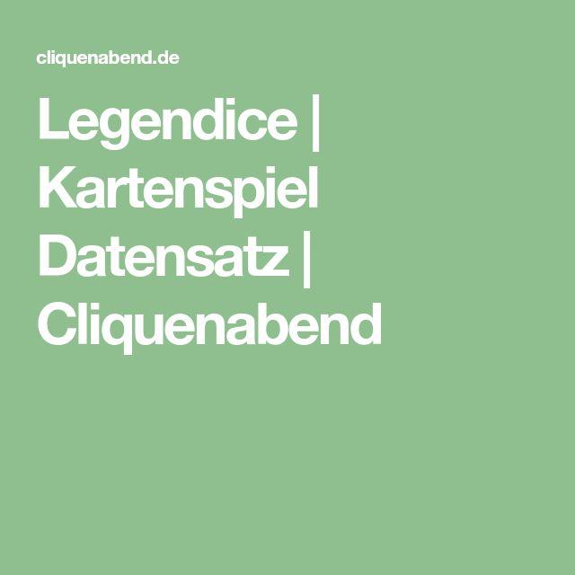 Legendice | Kartenspiel Datensatz | Cliquenabend