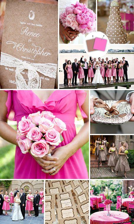 Wedding Color Palettes We Love - Magenta + Taupe