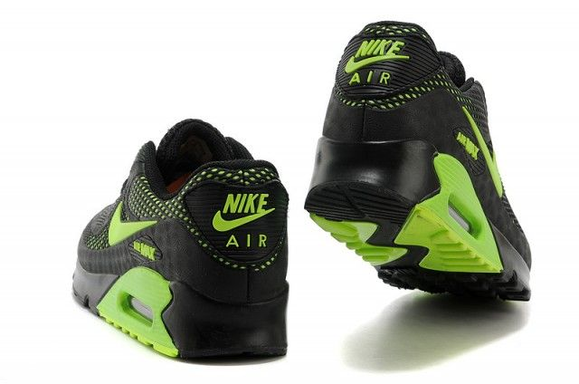 Nike Air Max 90 Black Green Men's Running Shoes in 2020 ...