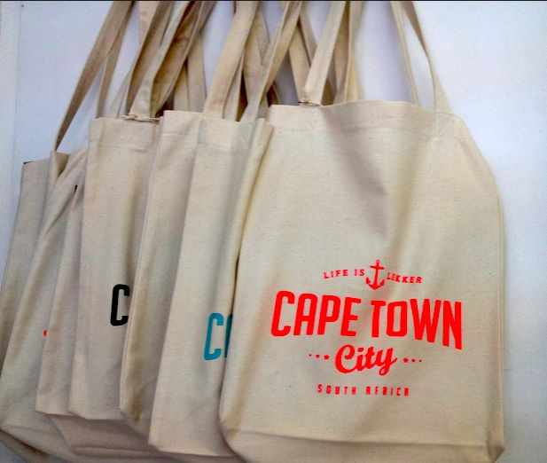 {Life is Lekker} bags from a Kloof Street boutique in Cape Town