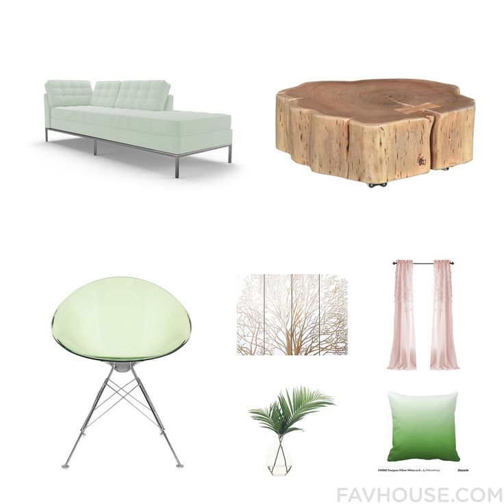 Interior Design Ensemble With Joybird Furniture Accent Chair Acacia Wood  Furniture Kartell Chair And White Wall
