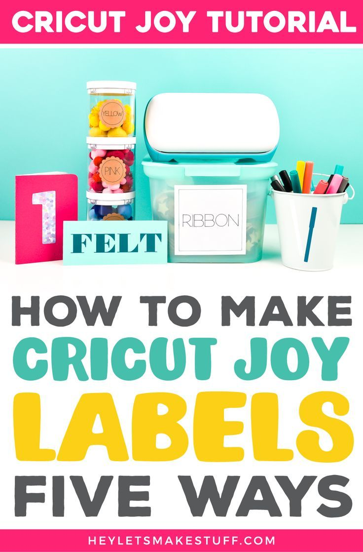 Five Ways To Make Labels With Cricut Joy In 2020 How To Make Labels Joy Cards Diy Cricut
