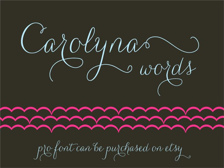Carolyna Words font by Emily Lime Design - FontSpace