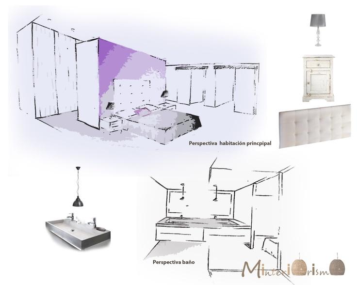 """Perspectiva habitación principal en """"Proyecto reforma vivienda ... La elegancia es cuestión de esqueleto"""""""