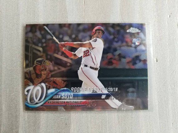 Juan Soto Topps Chrome Rookie Card, Washington Nationals Spring Training, Gift for Him, Gifts for Men, Gifts for Boyfriend Gift Easter Gifts Nationals…
