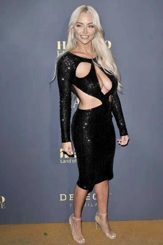 d73ee29905 Black Hollow Out Sequin Dress Lindsey Pelas in 2019 | Gowns ...