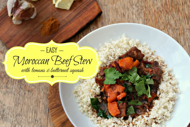 Easy Moroccan Beef Stew with Lemons and Butternut SquashAnd Here We ...
