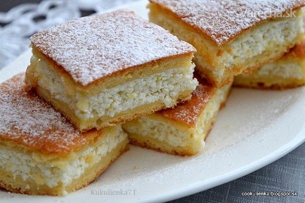 Mäkučký tvarohový koláč (fotorecept)