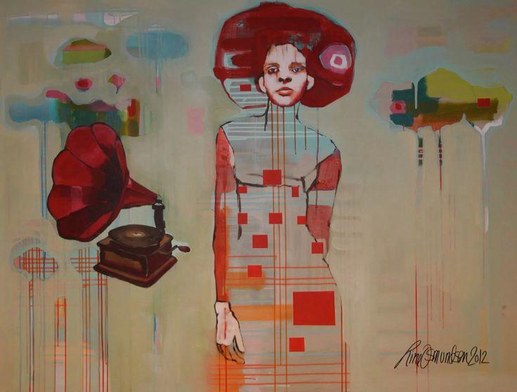 """""""Smalltown gossip 2"""" art by Line Osmundsen"""