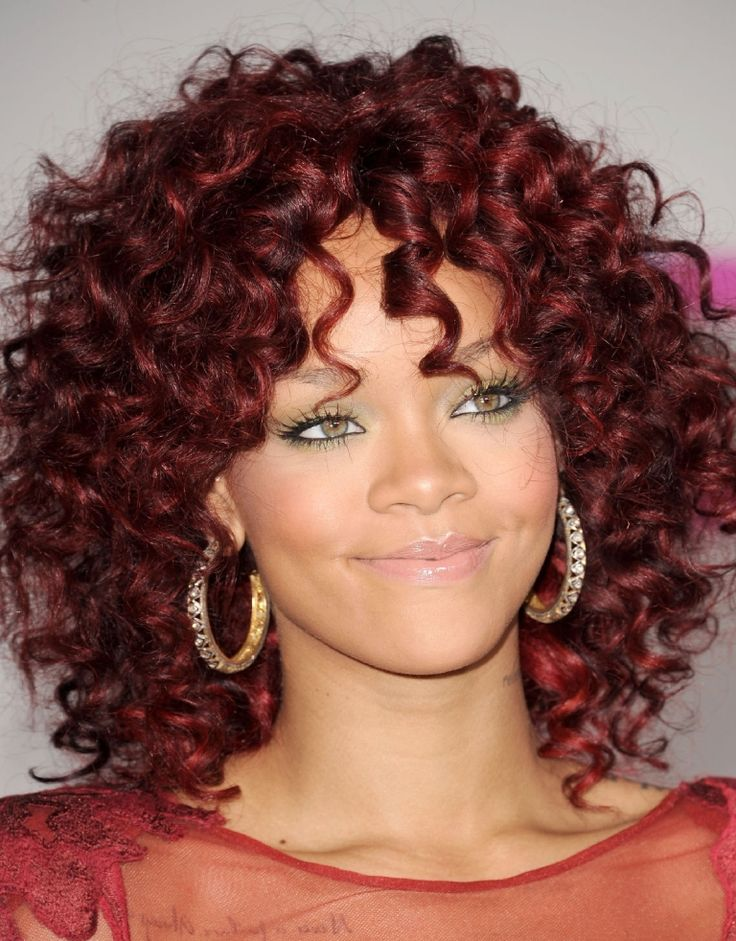 Charming short curly hair styles