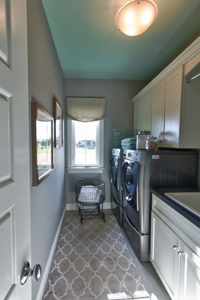 House Of Turquoise Karista Hannah And Lauren Harp Can I Please Have This Laundry Narrow Laundry Roomslaundry Room Rugslaundry
