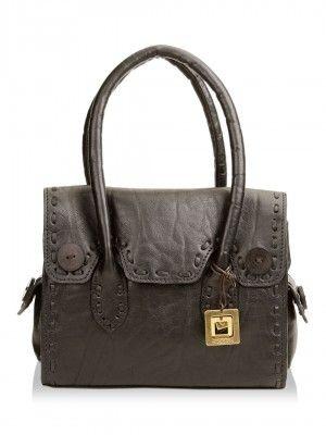 KOOVS Hidesign Handbag With Woven Detailing