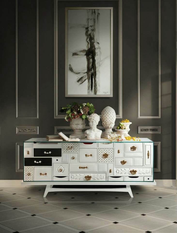Schön MONDRIAN WHITE Sideboard By BOCA DO LOBO Here Are Some Luxurious Home  Decorating Ideas For You.When Art Becomes A Sideboard Your Room Acquires An  ...