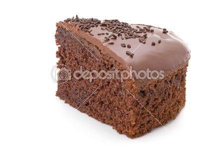 Кусочек торта шоколада помадки с окропляет подробно на белом — Стоковое изображение #13316420