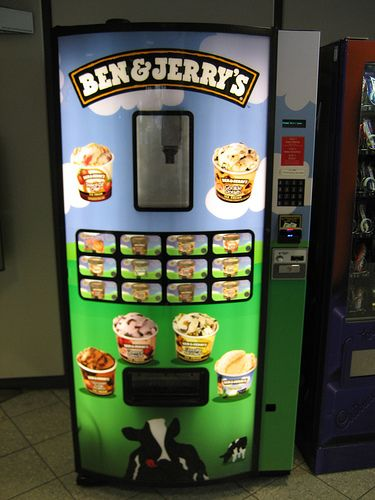 ben and jerrys ice cream vending machine