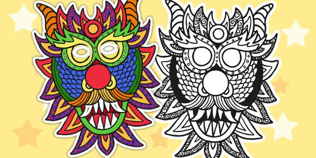 Chinese New Year Dragon Mask - Australia