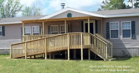 Porch designs for mobile homes decks videos and search Decks and porches for mobile homes