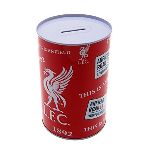 Liverpool F.C. Money Tin. Liverpool f.c. Metal money tin. Approx 15cm x 10cm x 10cm. Official licensed product.