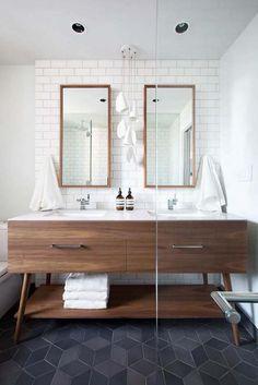 carrelage gris dans salle de bain style scandinave