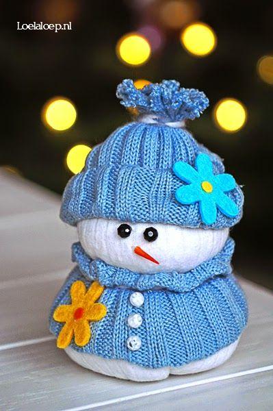 Bonhomme de neige fait maison