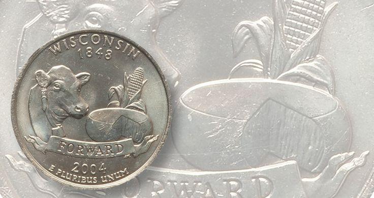 2004 Wisconsin, Extra Leaf Low quarter dollar