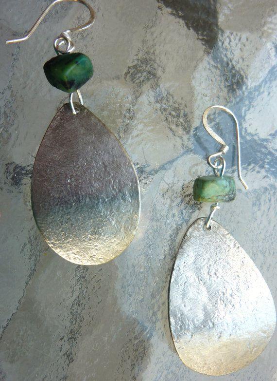hammered spoon earrings
