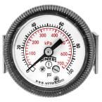 P9U 90 Series 1.5 in. Panel Mounted Pressure Gauge with 1/8 in. NPT Center Back Connect and Range of 0-100 psi/kPa