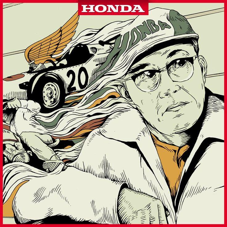 """""""Hay cualidades que conducen al éxito. Como el coraje, la capacidad de soñar y perseverar"""". Soichiro Honda."""