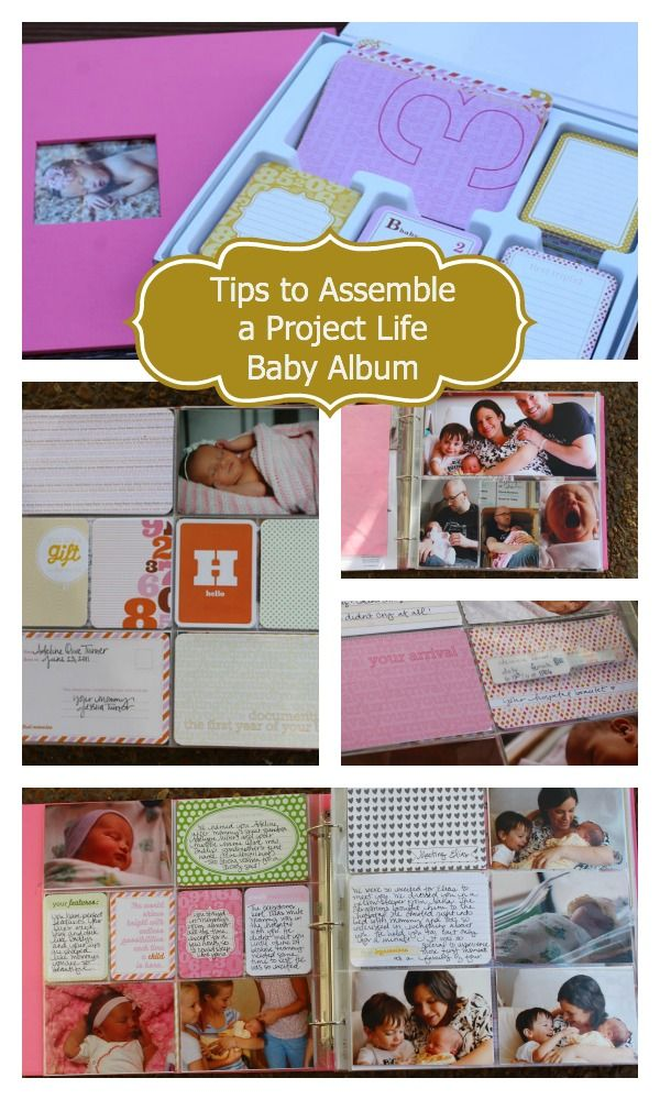 Tips to Assemble a Project Life Baby Album #projectlife #baby