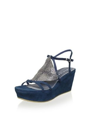 75% OFF Lola Cruz Women's Wedge Sandal (Azul)