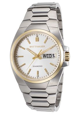 71% Off Wittnauer Men's Diamond SS Silver-Tone Dial Watch