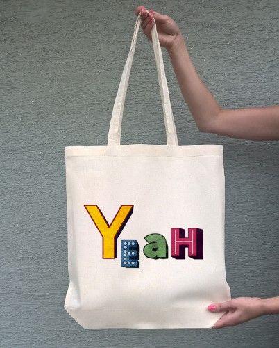 Yeah (torba bawełniana z długim uchem, kolor ecru) - tylko 19,50 PLN