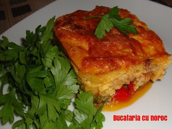 Budinca de pui si legume coapte - Bucataria cu noroc