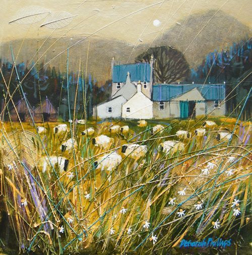 Deborah Phillips - Golden Grazing near Ballater