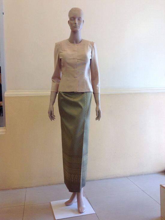 Thailand women dresses ชุดไทยมีแขน ชุดไทยเรือนต้น มาใหม่