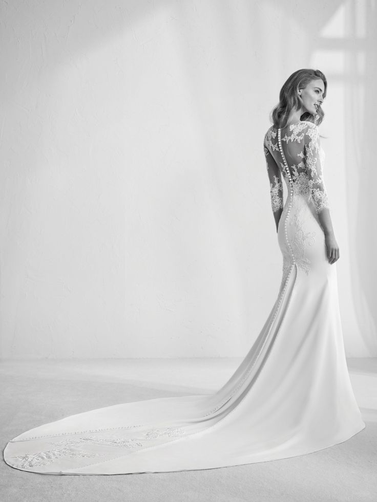 10 best Modest dresses images on Pinterest | Wedding dress, Wedding ...