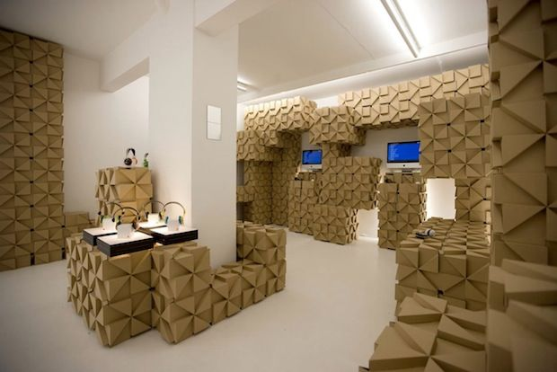 pop-up store de carton