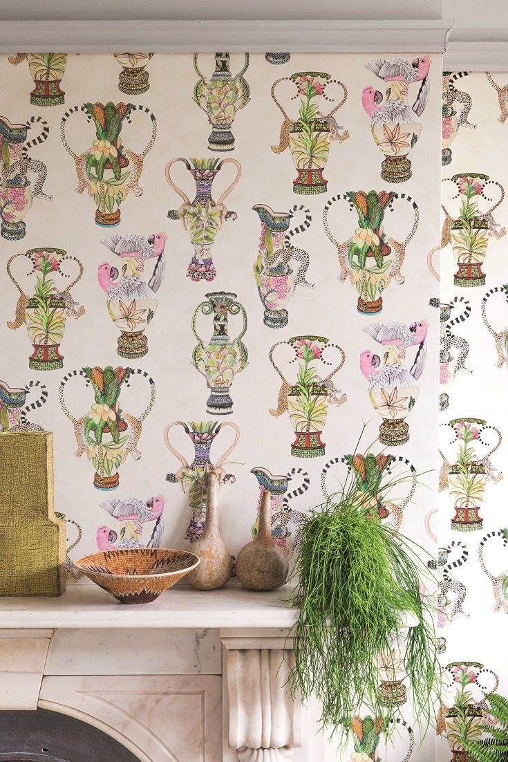 Stunning new Cole and Sons Ardmore Khula Vases wallpaper design.