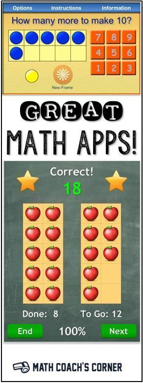 Free and low-cost math apps! Perfect for primary teachers-great list to use in your classroom!
