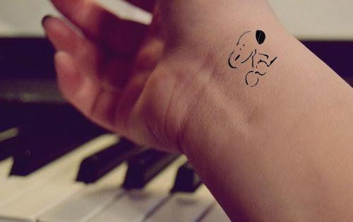 Snoopy Wrist Tattoo.                                                                                                                                                      More