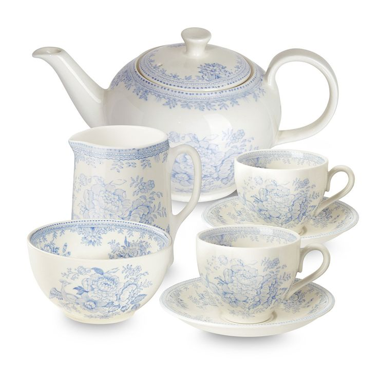 Blue Asiatic Pheasant Tea Set