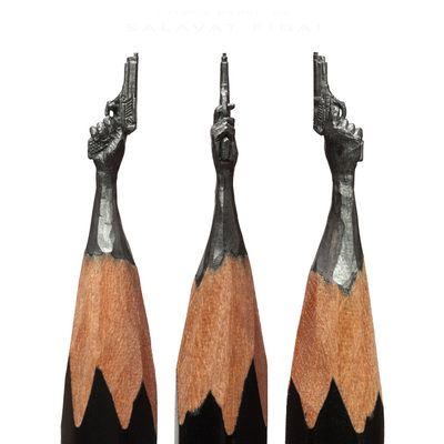 Best Potloden ART Images On Pinterest Pencil - Artist carves miniature pop culture sculptures into pencils