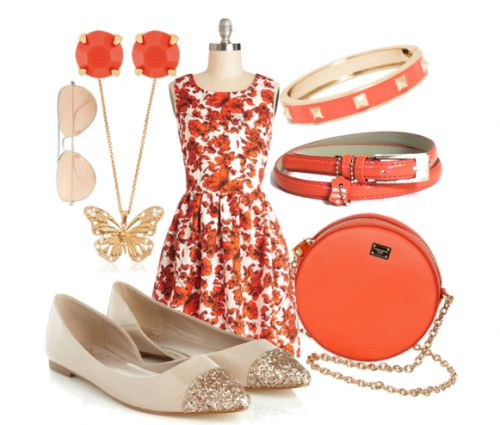 Floral #dress, see more info. about this #outfit here: http://lolomoda.com/spring-fashion-casual-wear2014/
