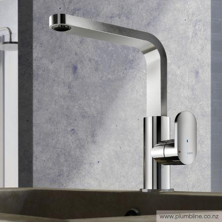 Minimo Highrise Basin Mixer With Energy Saver - Bathroom Tapware - Bathroom