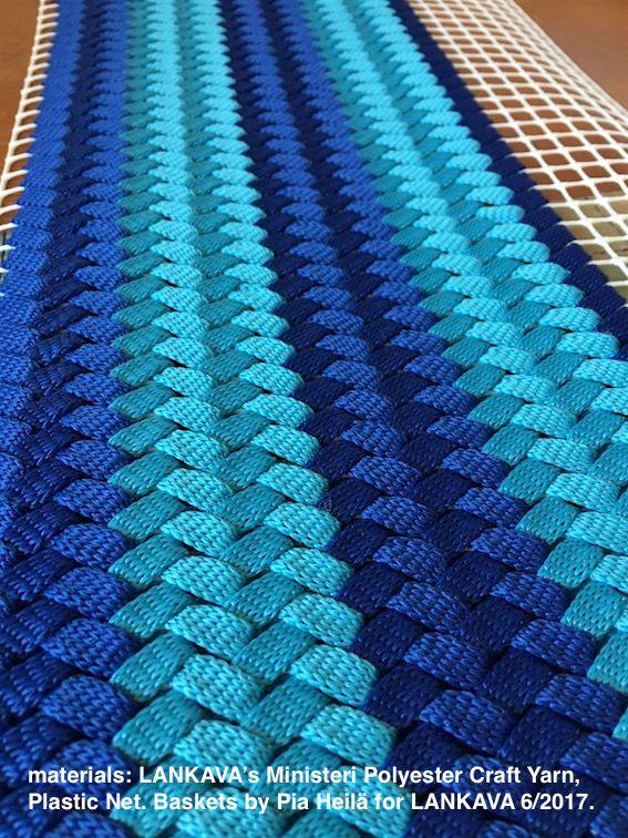 Ministeri Polyester Craft Yarn, Plastic Net, LANKAVA. Basket making, Pia Heilä for LANKAVA.