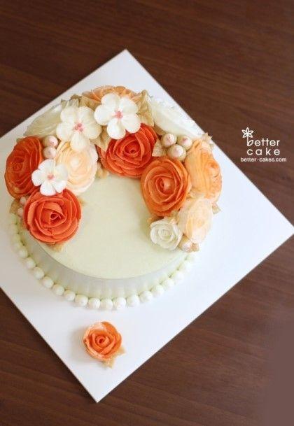 Better-cakes.com  [베러케이크 정규클래스 후기] 오렌지 버터크림플라워케익 - 공덕역 마포역케이크/베이킹클래스 : 네이버 블로그