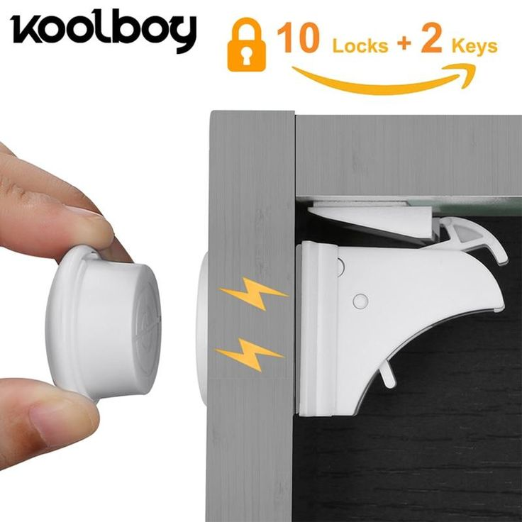 safety first adhesive magnetic locks
