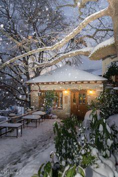 Agios Lavrentios in snow, Pilio, Greece #snowscenes