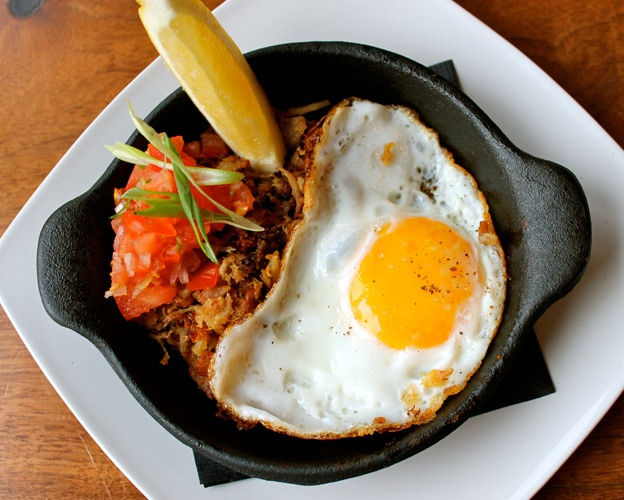 Filipino prix fixe Mains at Lamesa are around $25 each, which makes the five-course prix fixe for $40 a ridiculous deal—and a great way to sample Filipino cuisine. We love the halo halo sisig: a chili-peppered pile of ground pork, chicken and beef topped with a gooey fried egg and pico de gallo. 669 Queen St. W., 647-346-2377.