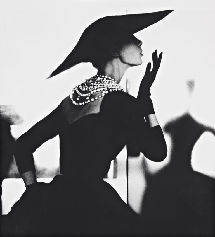 Blowing Kiss - Barbara Mullen NYC 1958 by Lillian Bassman
